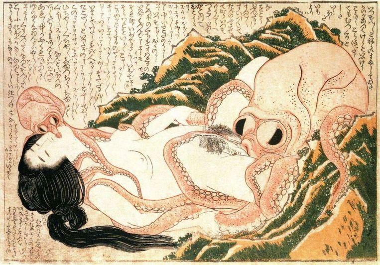 'De droom van de vissersvrouw van Hokusai' (1814). Beeld