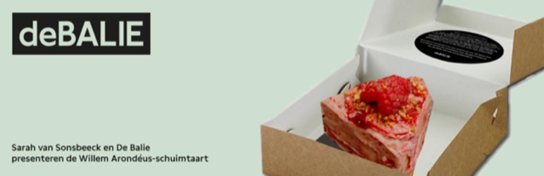De Willem Arondéus-taart. Beeld De Balie/Michelle van der Plas