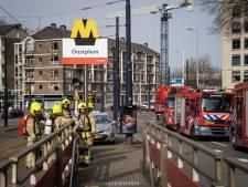 Metrodeuren bleven dicht bij brand in tunnel: 'Ze gaan niet automatisch open als voertuig niet op perron staat'