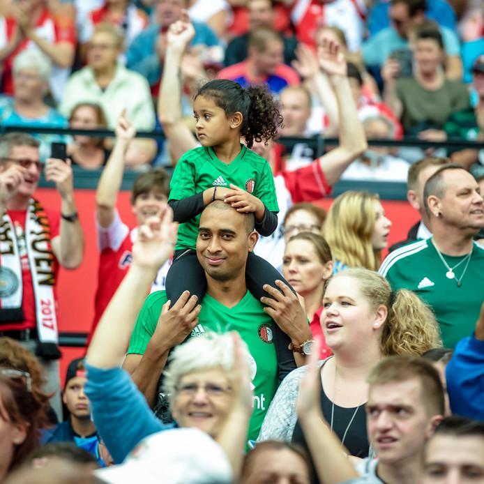Open dag van voetbalclub Feyenoord in de Kuip.