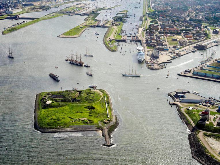 Het Forteiland tijdens Sail. Beeld Forteiland IJmuiden