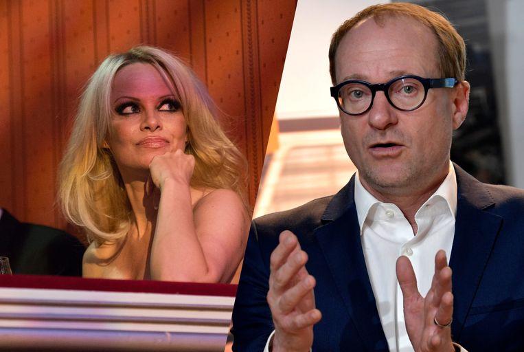 Pamela Anderson prijst minister Weyts in een brief. Beeld EPA/Photo News