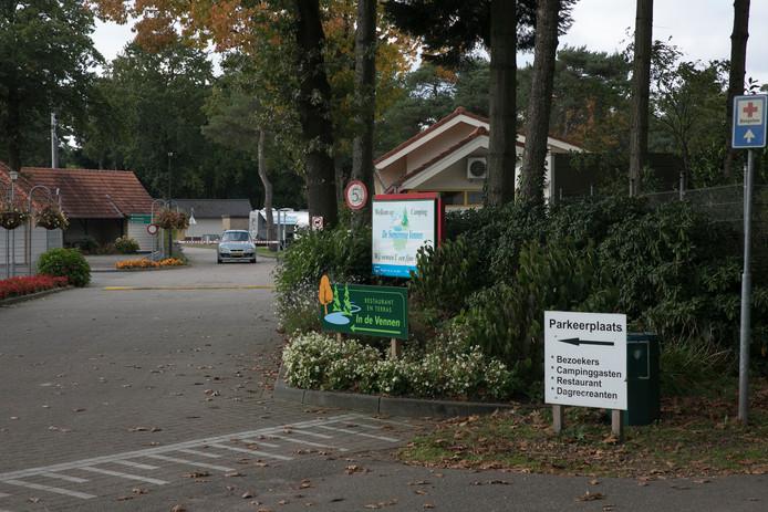 De ingang van camping de Somerense Vennen in Lierop.