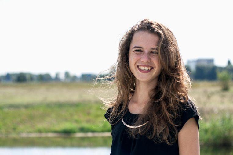 Lotte Leufkens is genomineerd voor het initiatief CloudCuddle, een draagbaar bed voor gehandicapte kinderen. Beeld -
