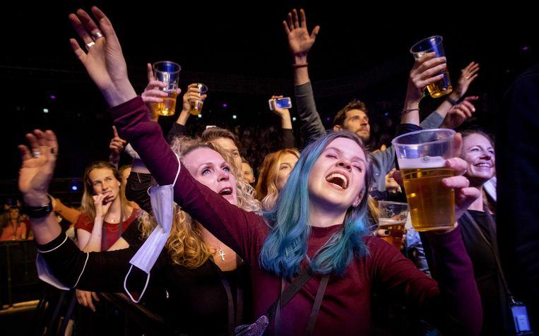 Bezoekers in de Ziggo Dome tijdens het optreden van Andre Hazes jr. Beeld ANP
