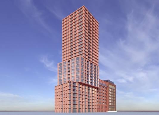 Het ontwerp van gebouw Eurostaete, naast het PSV-stadion aan de PSV-laan in Eindhoven, is goedgekeurd. Nu start de bestemmingsplanprocedure.