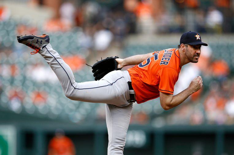 Justin Verlander, werper bij de Houston Astros, is goed voor 29 miljoen dollar per jaar. Beeld AP