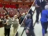 Protest tegen coronapas in Italiaans parlement