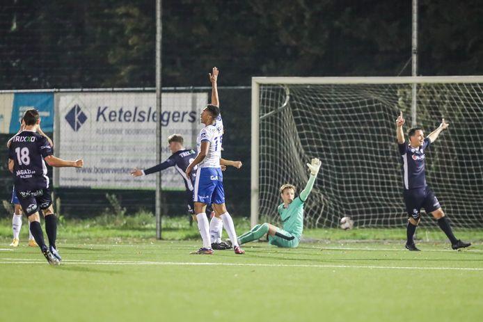De 0-1 voor Belisia langs Jelle Landuyt.