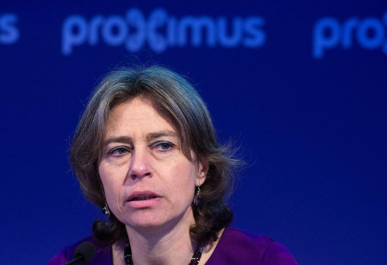 Dominique Leroy had vrijdag haar laatste dag bij Proximus. Beeld REUTERS