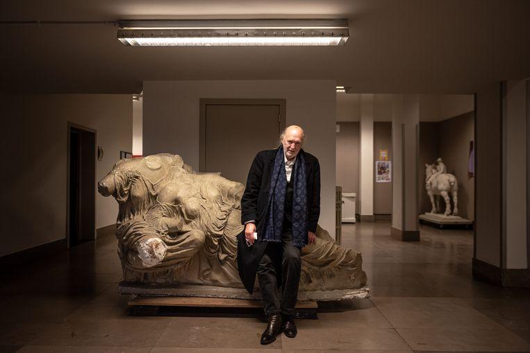 Guillaume Bijl, portret, kunstenaar, expo, Antwerpen Beeld Wouter Maeckelberghe