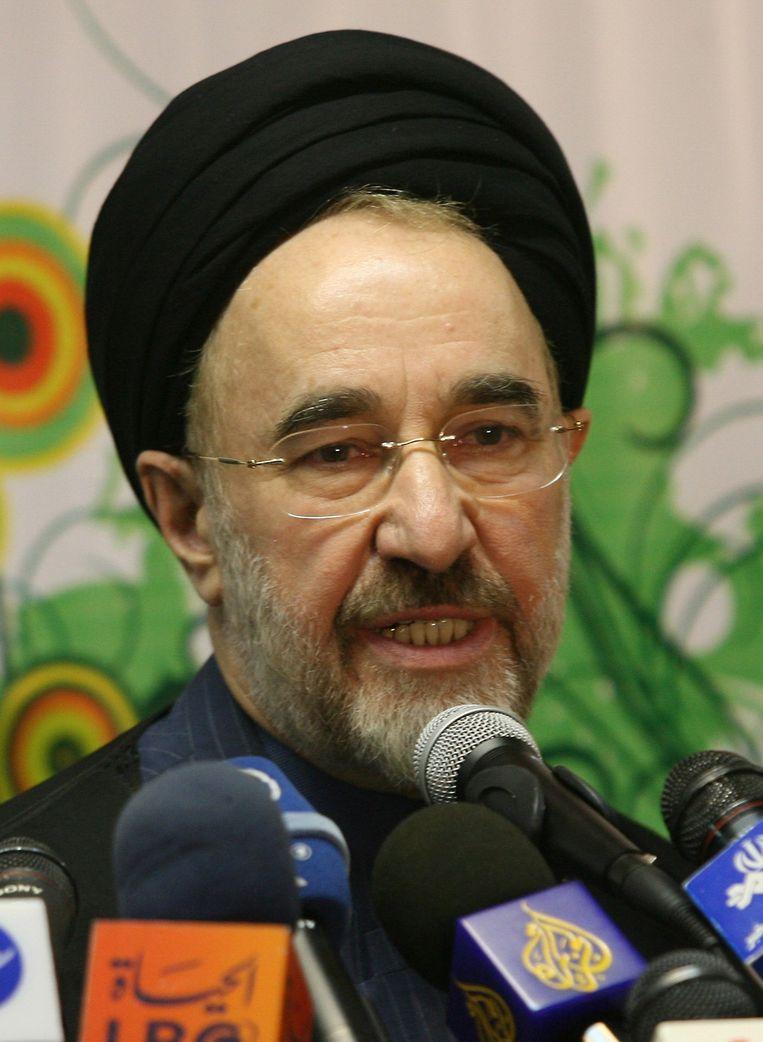 Oud-president Mohammad Khatami in 2009. Hij was wel hervormingsgezind. 'Onder Khatami konden we sandalen dragen, onze teennagels lakken.' Beeld AFP