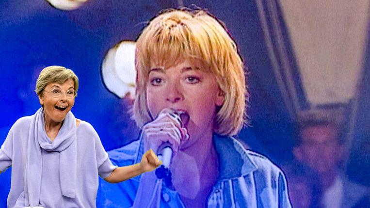 Ingeborg schittert in meer dan één opzicht in 'Tien om te zien: de zomer van 199X'. Beeld VTM