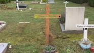 """Sterrenkindje krijgt nieuw kruis op grafje en dat was nodig. """"Het lot van baby Franco heeft me nooit losgelaten"""", zegt An Andries van Nooit Vergeten"""