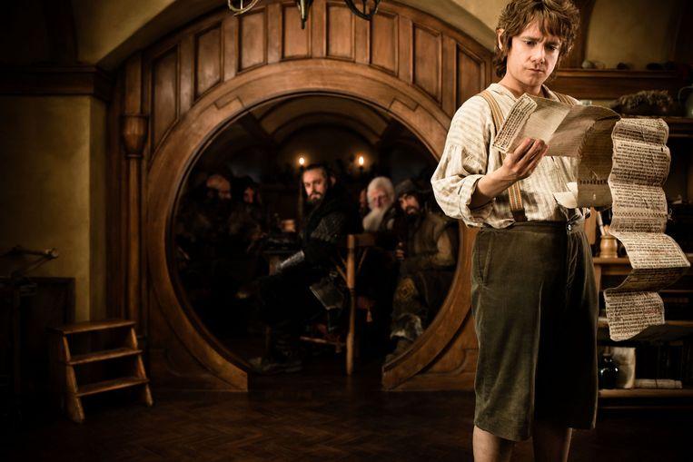 Een beeld uit 'The Hobbit: An Unexpected Journey' toont het interieur van één van de Hobbithuisjes in Hobbiton.