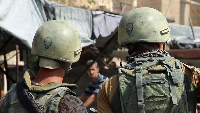 Russische soldaten in Deir Ezzor. Beeld AFP