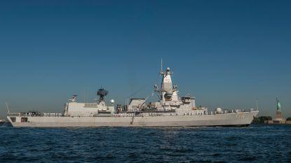 Fregat Leopold I maand eerder terug in Zeebrugge door coronabesmetting aan boord