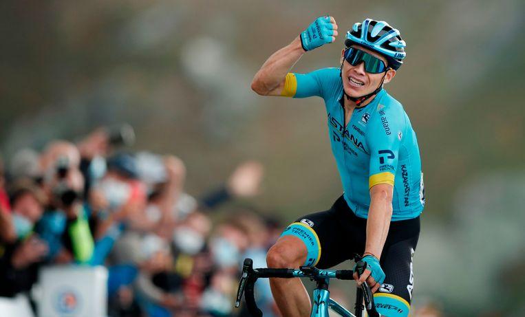 Miguel Angel Lopez won de koninginnenrit met aankomst op de Col de la Loze, Roglic deed de beste zaak in het klassement.