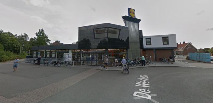 De huidige locatie van de Lidl in Steenbergen.