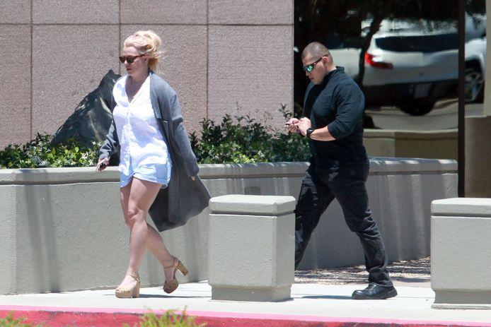 Britney Spears de dag voordat ze haar getuigenis moet afleggen in de rechtbank