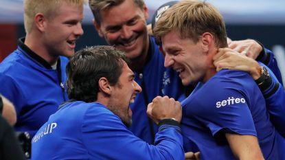 """Goffin voelt zich als een vis in het water op de Laver Cup: """"Bjorn Borg die op de bank zit, Roger Federer die je raad geeft. Het is een droom"""""""