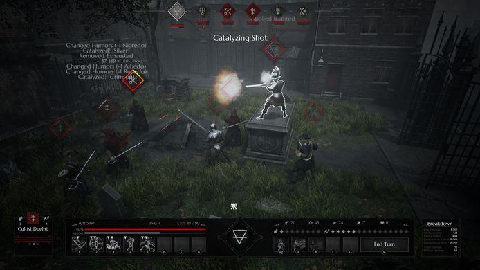 Qua visuele presentatie is 'Black Legend' allerminst een topper, maar dat maakt de game goed met zijn diepe spelregels en variabelen.
