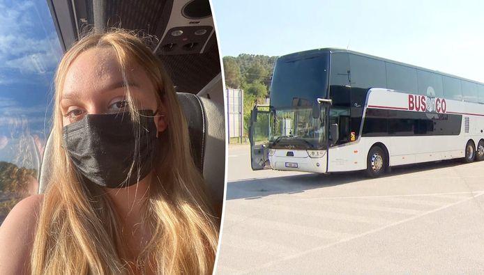 Elmira (17) dans le bus.