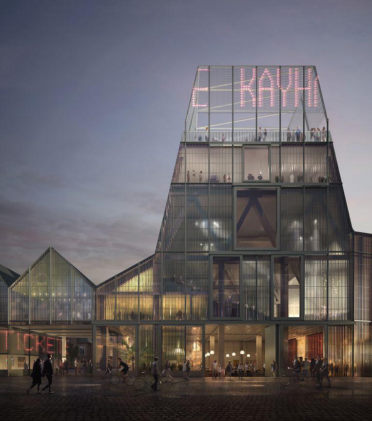 Het voorlopige ontwerp van de Podiumkunstenzaal in Leuven.