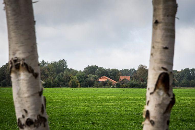 De boerderij waar het gezin jarenlang in een afgesloten ruimte leefde. Beeld ANP