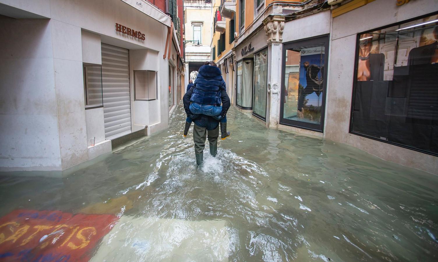 De situatie in Venetië vandaag.