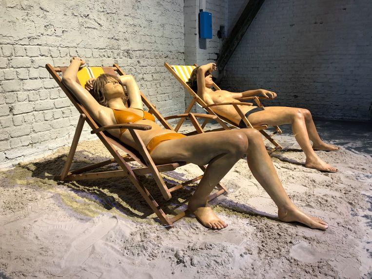 Op de expo 'Hyperrealism Sculpture. Ceci n'est pas un corps'. Beeld BELGA