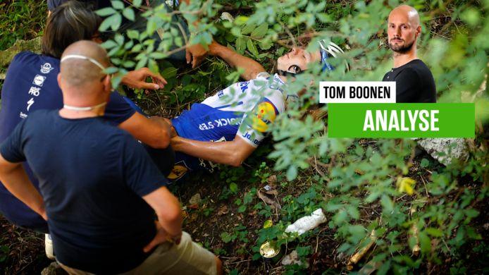 Evenepoel dook het ravijn in tijdens de Ronde van Lombardije.