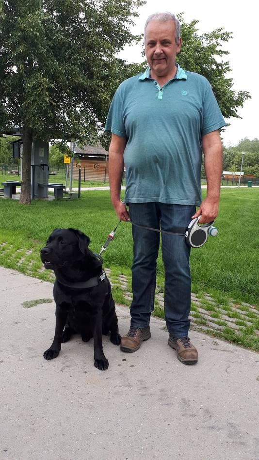 Marcel Courbois en hond Joep uit Duiven