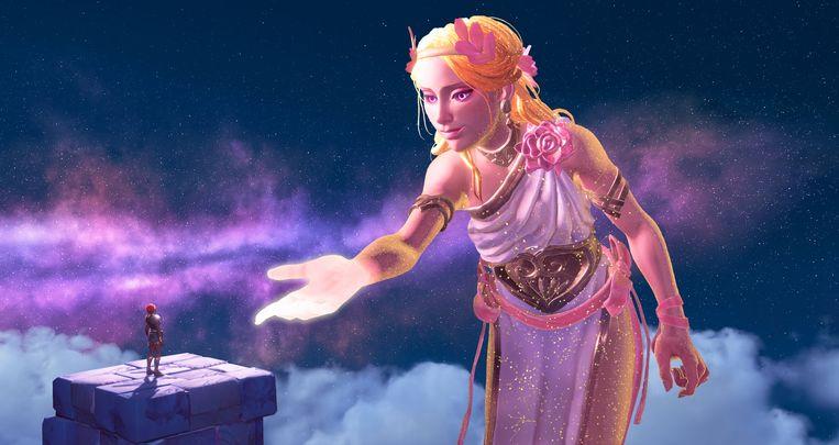 Niet alle goden in Immortals: Fenyx Rising hebben kwaad in de zin. Enkelen doen grote handreikingen. Beeld Ubisoft