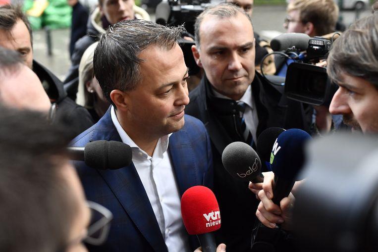 Egbert Lachaert is officieel kandidaat-voorzitter van de Open Vld. Beeld BELGA PHOTO DIRK WAEM