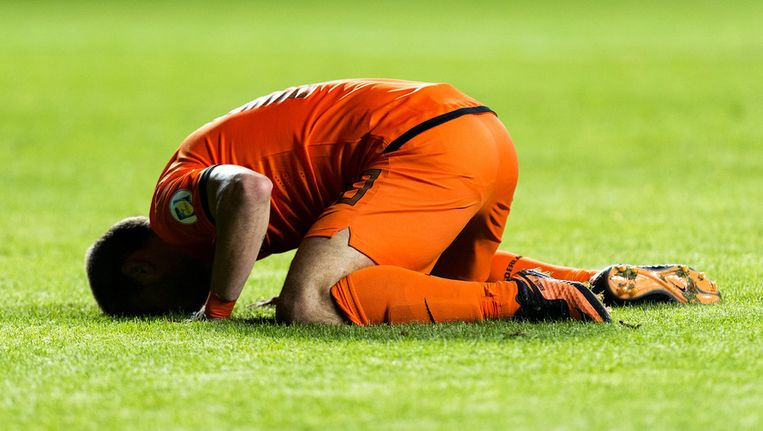 Wesley Sneijder tijdens een WK kwalificatiewedstrijd tegen Estland Beeld ANP