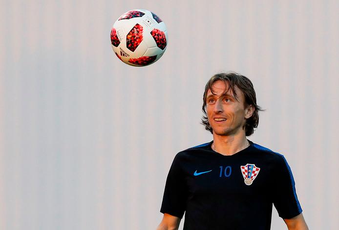 Luka Modric tijdens de training.