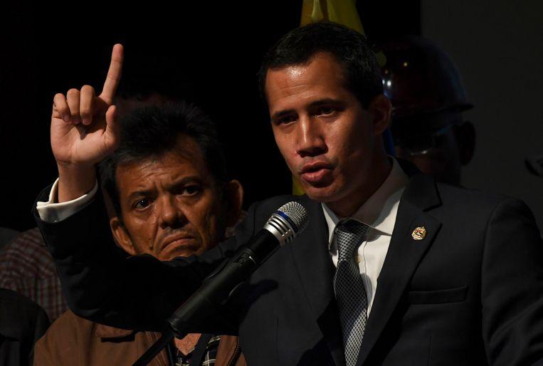 De Venezolaanse zelfverklaarde interimpresident Juan Guaido. Beeld AFP