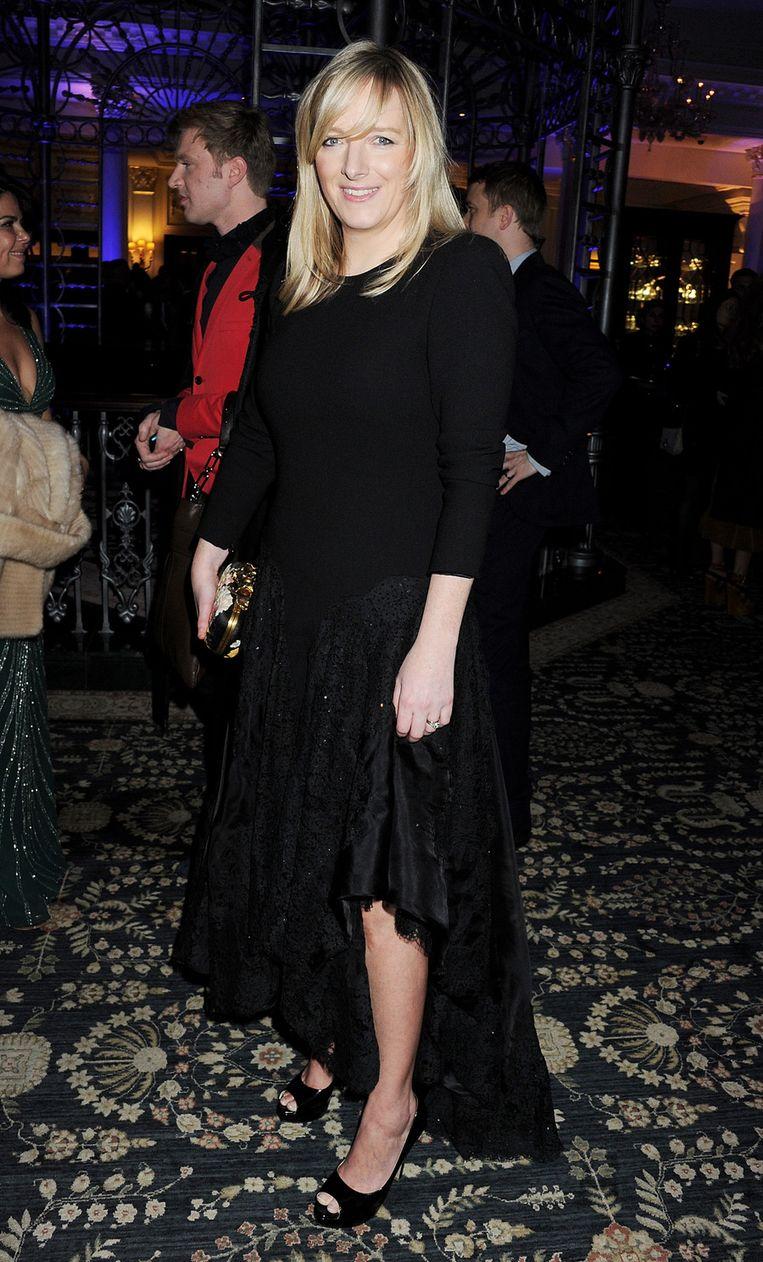 De vrouw achter de trouwjurk van Kate Middleton, Sarah Burton. Beeld GETTY