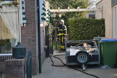 Brand in spouwmuur woning in Prinsenbeek