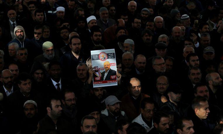 Foto van vermoorde journalist Jamal Khashoggi.