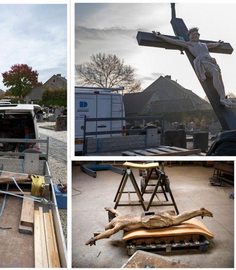 Jezus herrijst een week vóór Pasen in Ravenstein, restauratieproces in beeld