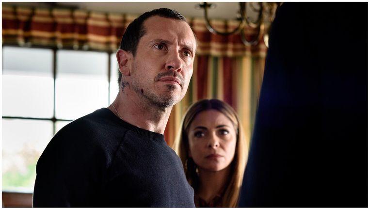 Crimineel Marius Milner (Jacob Derwig) en zijn vrouw Kitty (Georgina Verbaan Beeld Pief Weyman