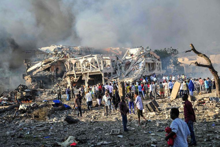 Een aanslag van Al-Shabaab in Somalië