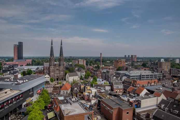 Deel van de Tilburgse binnenstad.