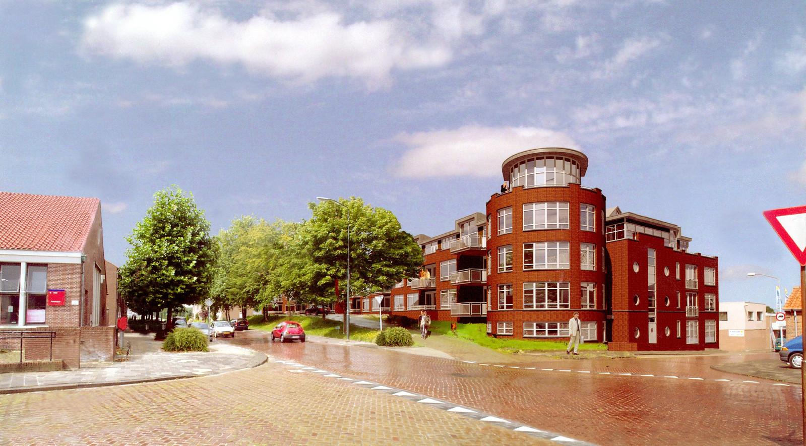Het meer dan vijftien jaar oude plan van Brabants Westhoek en Zeeman Vastgoed voor de Bult van Pars in Klundert: 49 huur- en koopappartementen. Het is voormalig volkshuisvester Christ de Jong een raadsel waarom het nooit van de grond is gekomen.