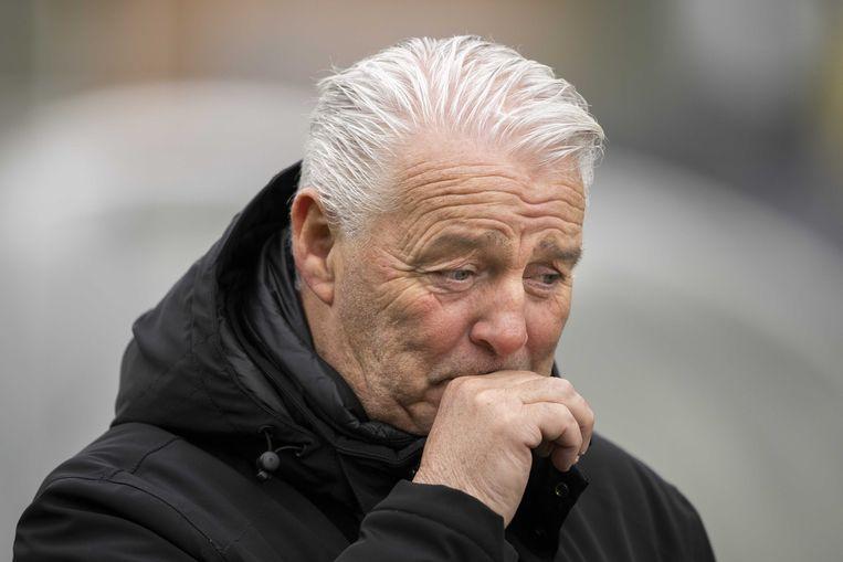 VVV-Venlo coach Hans de Koning teleurgesteld na afloop van de Nederlandse Eredivisie wedstrijd tussen VVV-Venlo en Fortuna Sittard in het Covebo stadion De Koel op 14 maart 2021 in Venlo, Nederland. Beeld ANP