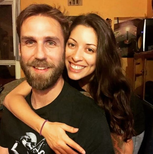 Erica met haar huidige man.