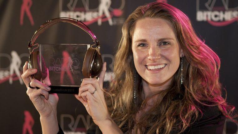 Petra Grijzen van BNR Nieuwsradio is verkozen tot RadioBitch 2011 en is daarmee de laatste RadioBitch. Beeld anp