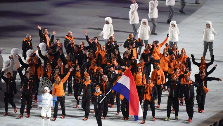 Het Nederlandse team. Beeld afp